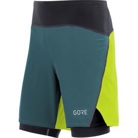 GORE WEAR R7 2in1 Shortsit Miehet, dark nordic blue/citrus green